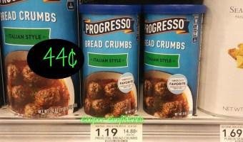 Progresso Bread Crumbs 44¢ at Publix!