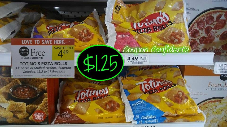 Totino's Pizza rolls just $1.25 a bag at Publix!
