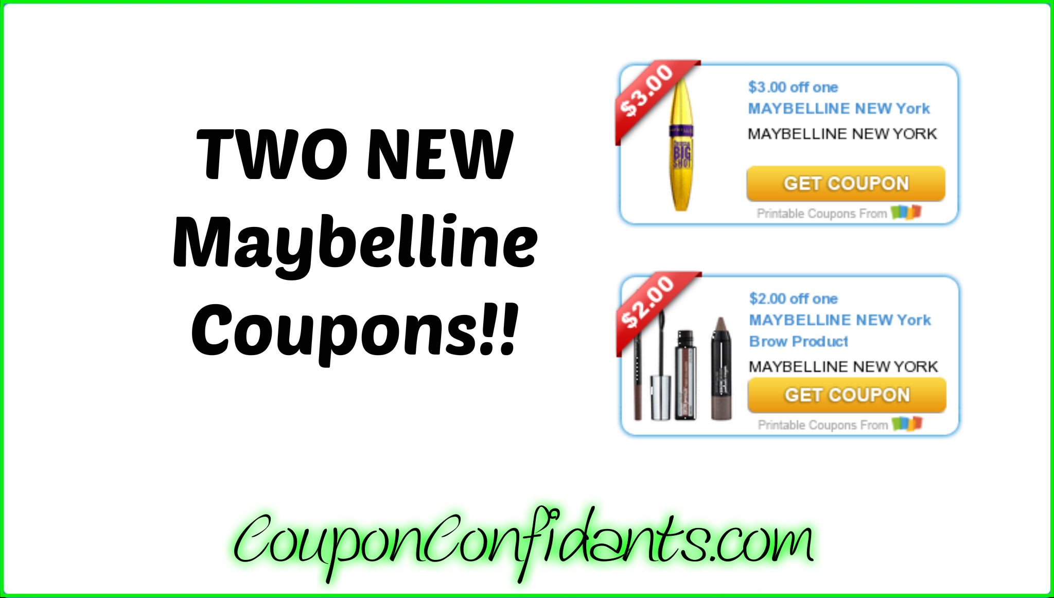 photograph regarding Printable Maybelline Coupons named Clean Maybelline Discount coupons toward stack with the foreseeable future Focus
