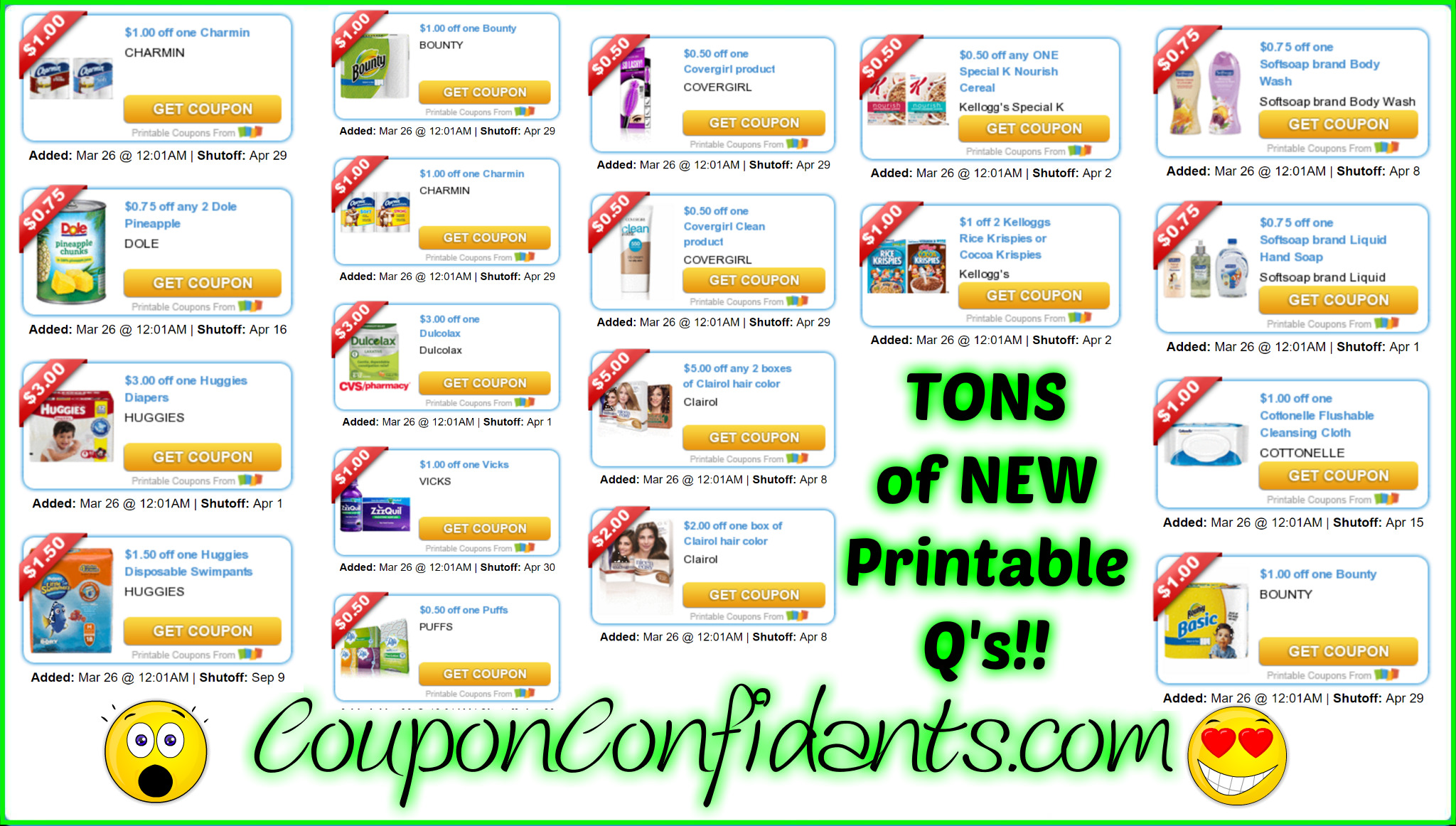 MASSIVE List of the NEWEST Printable Coupons!! :)
