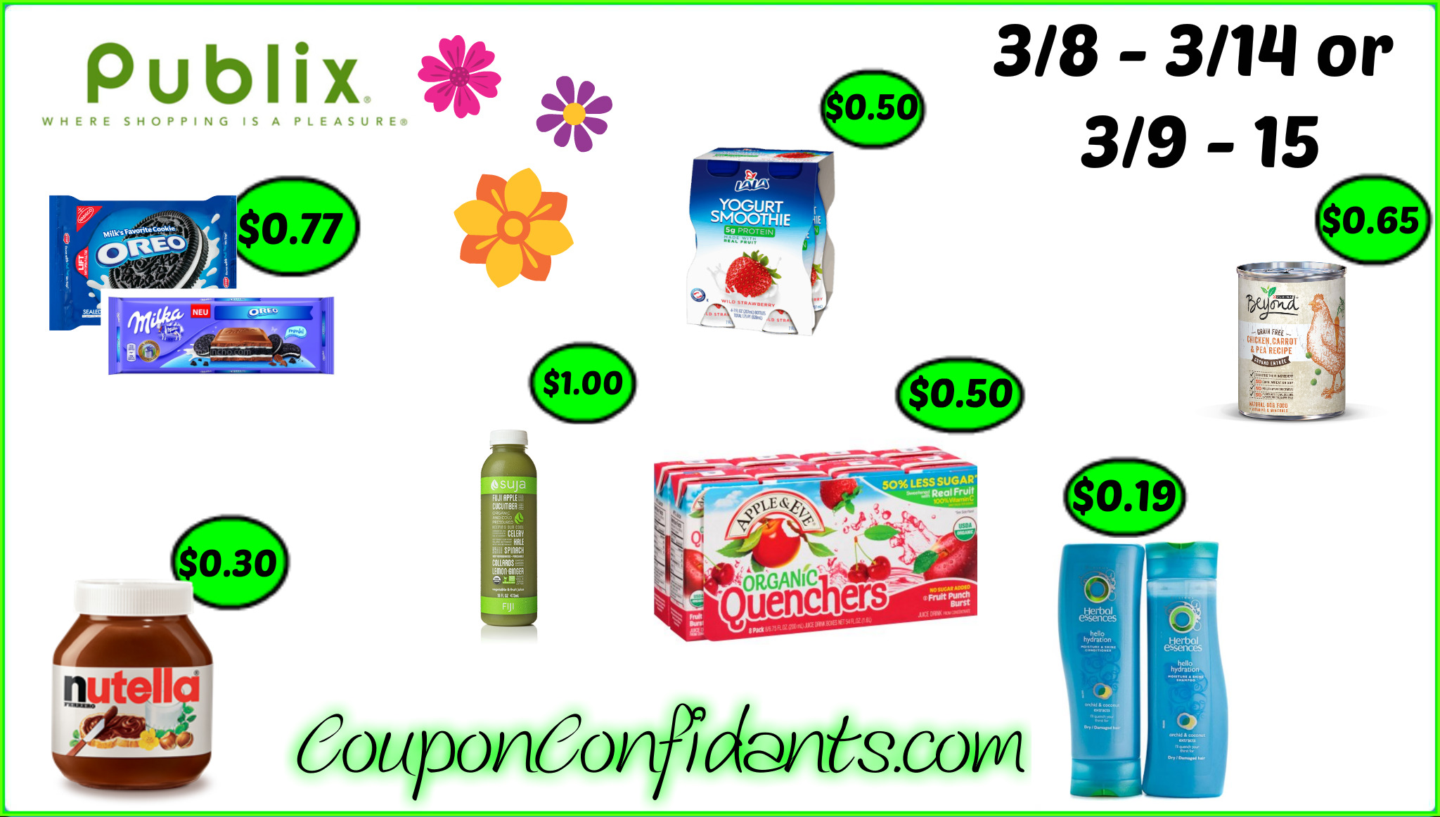 Publix BEST Deals! 3/8 - 3/14 OR 3/9 - 3/15
