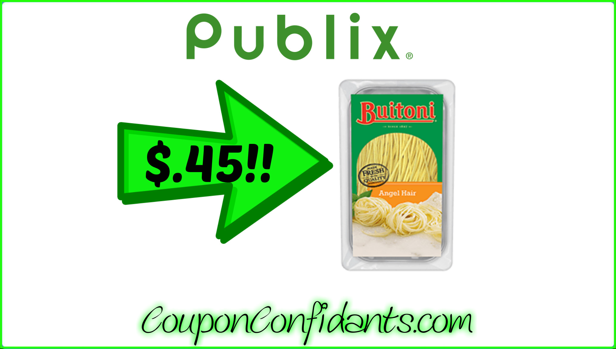 Buitoni only $.45 at Publix!!!
