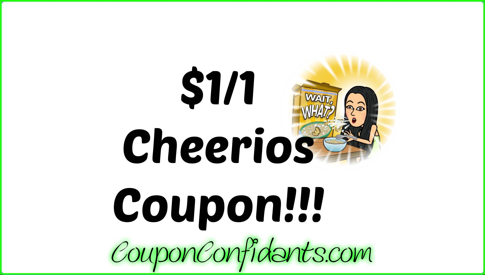 Cheerios coupons october 2018