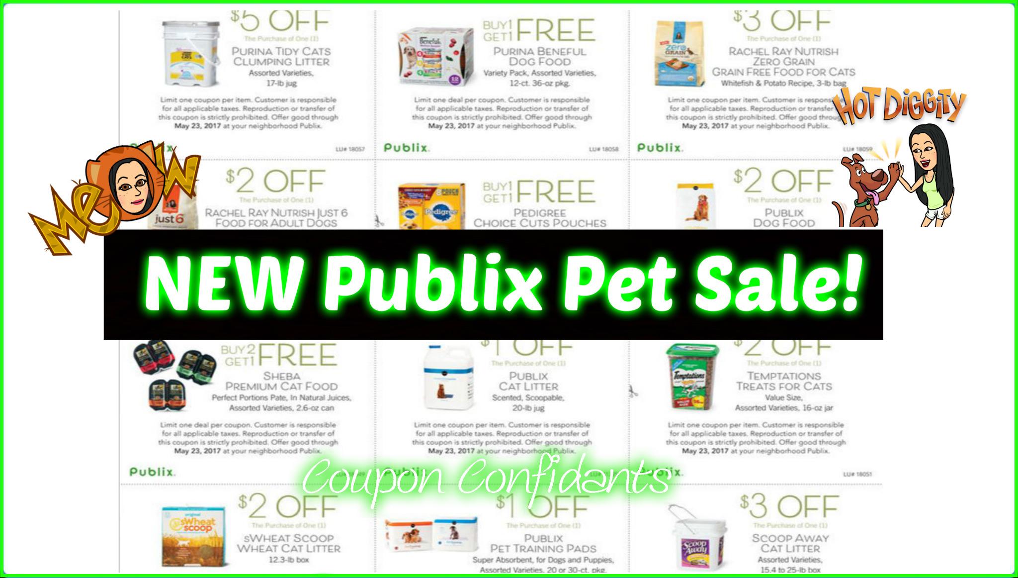 NEW Publix Pet Sale!!