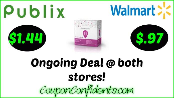 Ongoing Deal Summer S Eve Cloths At Publix Walmart Coupon Confidants