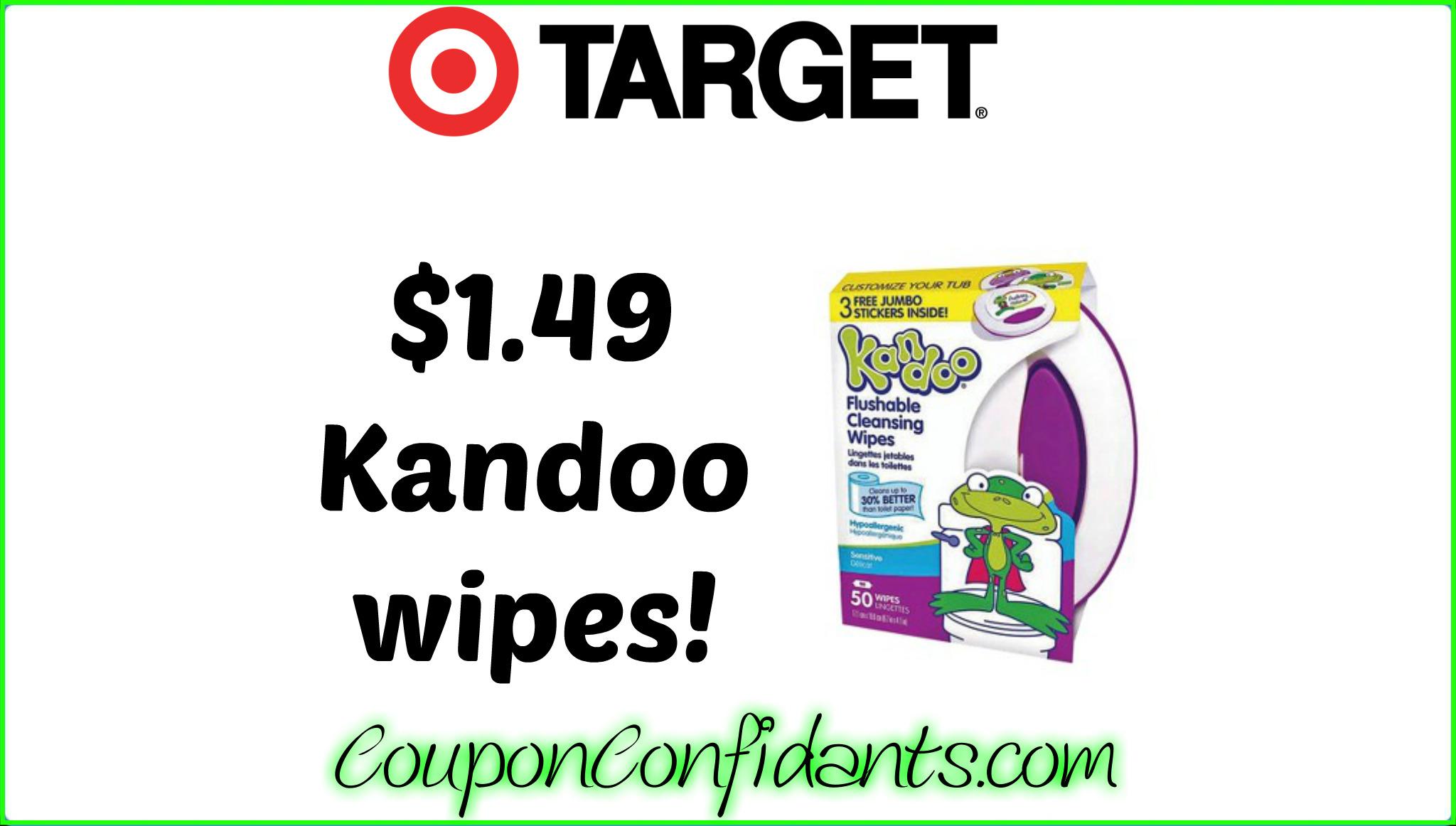 Kandoo Wipes only $1.49 at Target!
