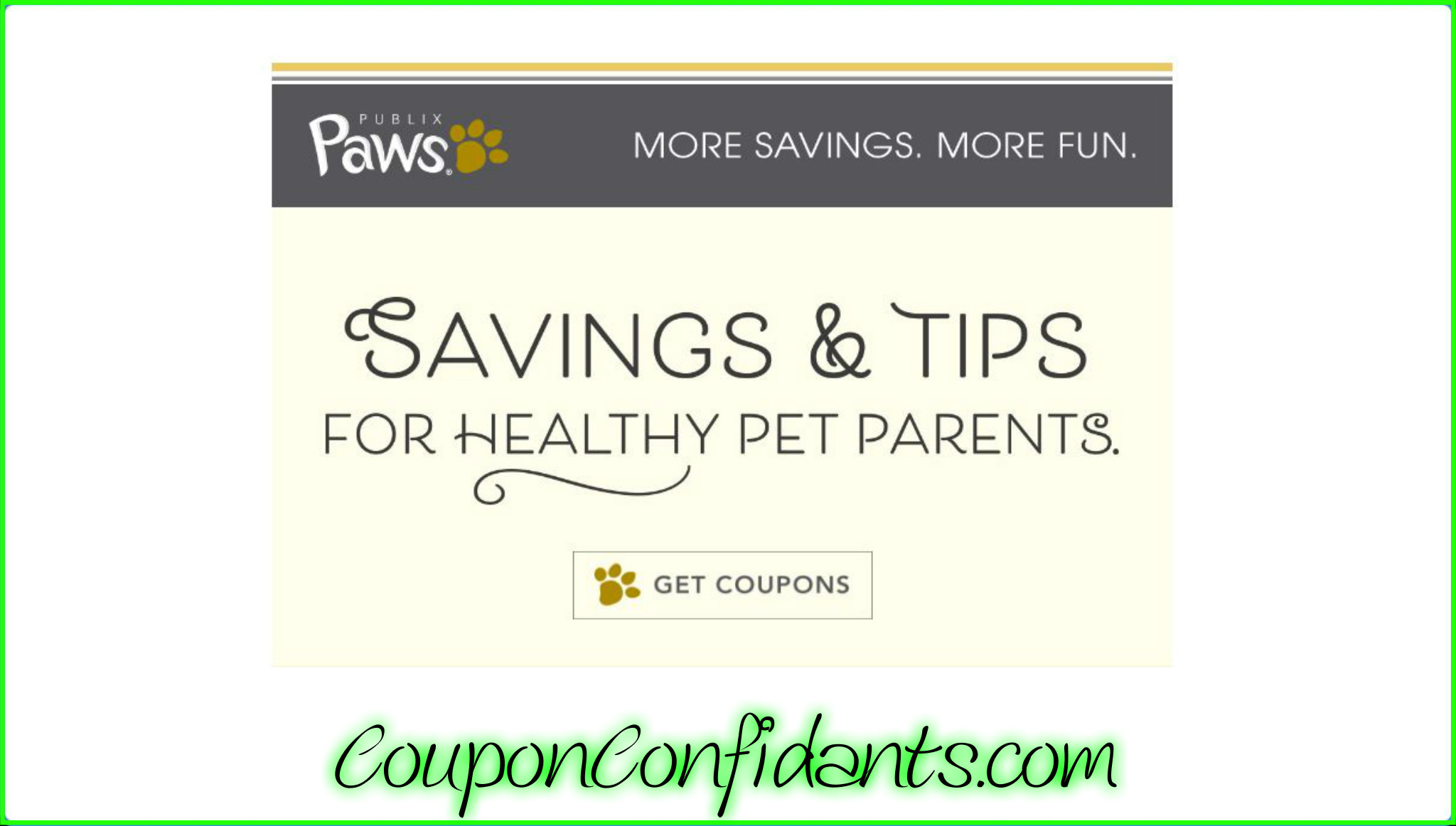 NEW Publix Pet Paws Coupons are here! Check those emails!