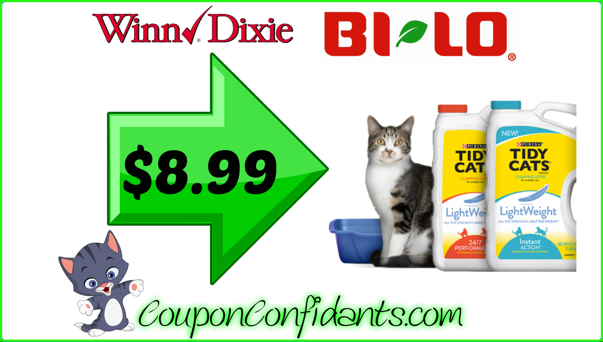 photo about Tidy Cat Printable 3.00 Coupon titled Tidy Cats bundle at Winn Dixie and Bi-lo! ⋆ Coupon Confidants