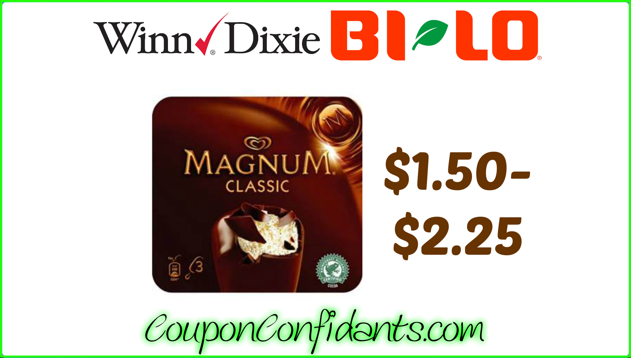 Last Chance to Print!!! Magnum Ice Cream at Bi-lo & Winn Dixie!