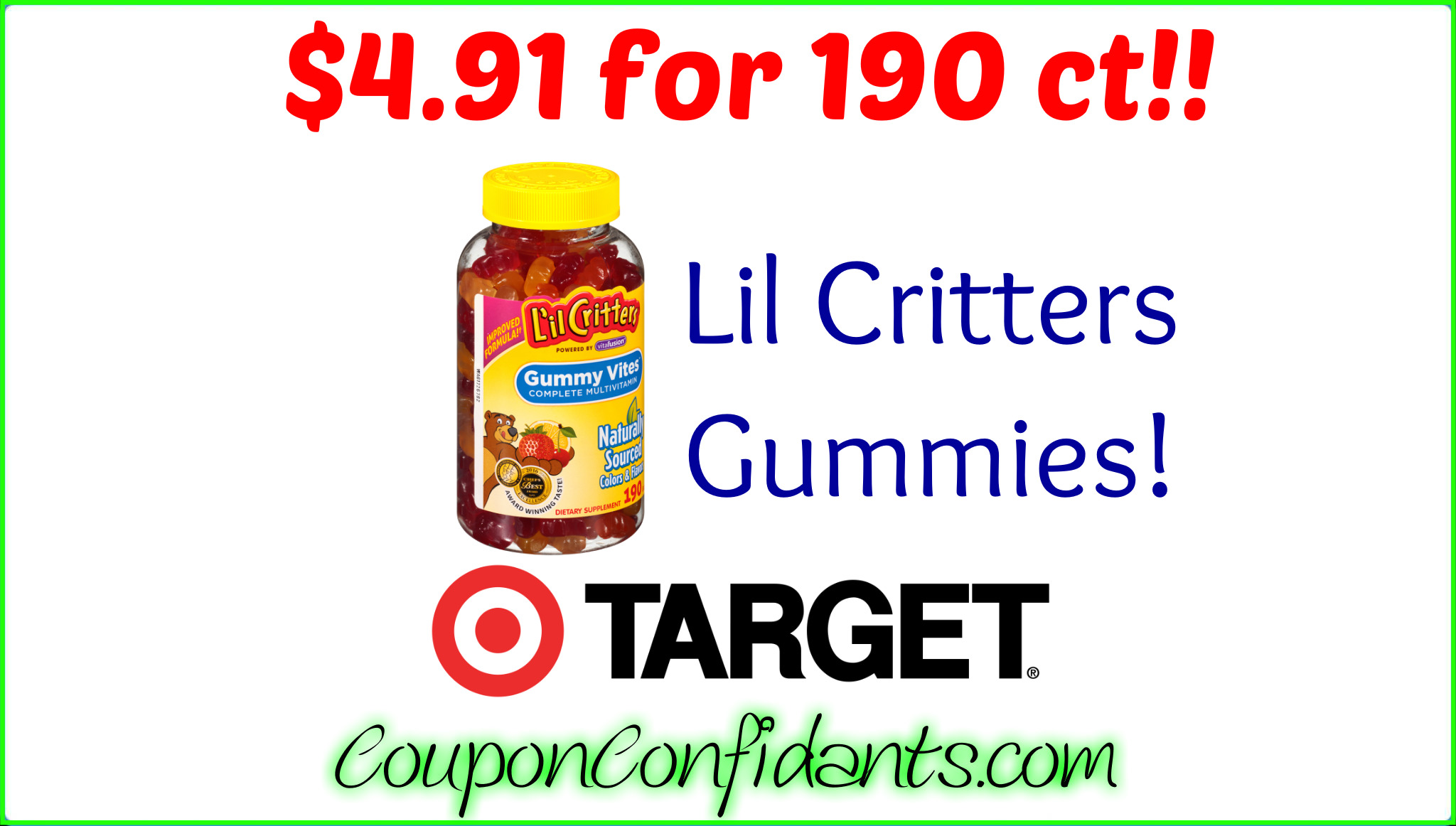 Lil Critters Gummy Vitamins at Target!!