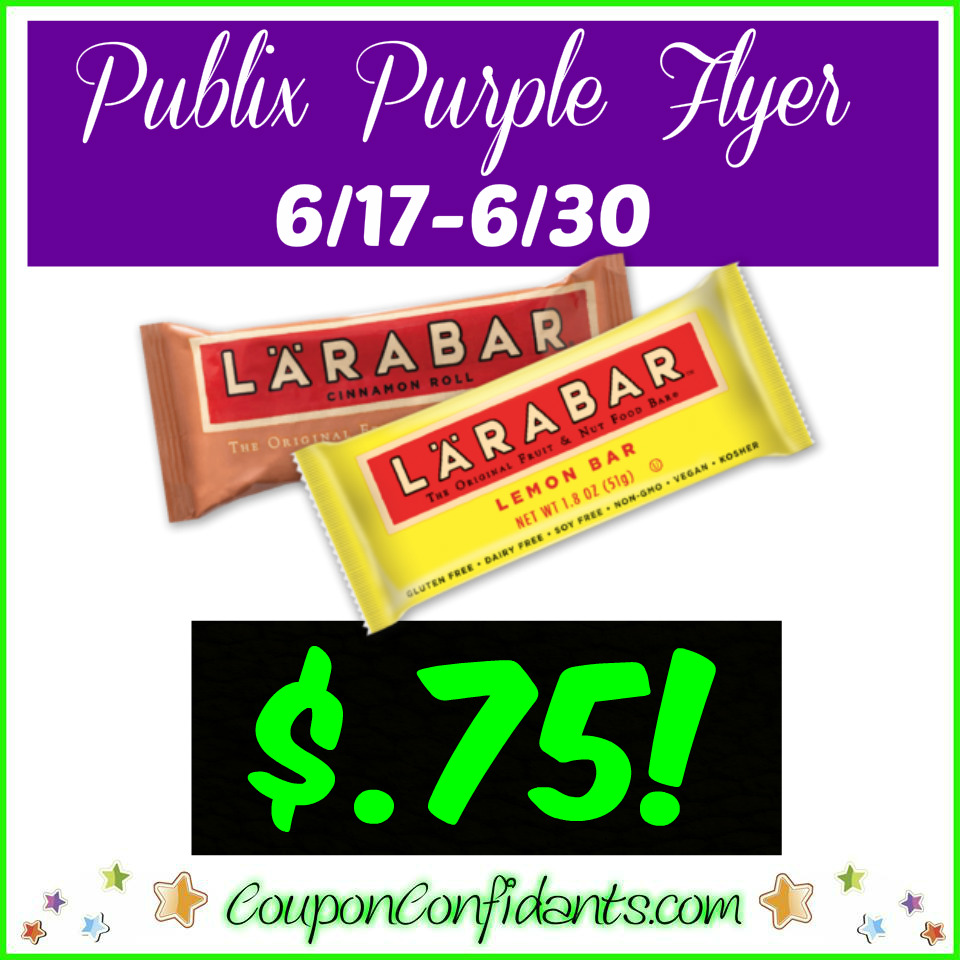 Larabar Bars only $0.75 at Publix!! YUM!