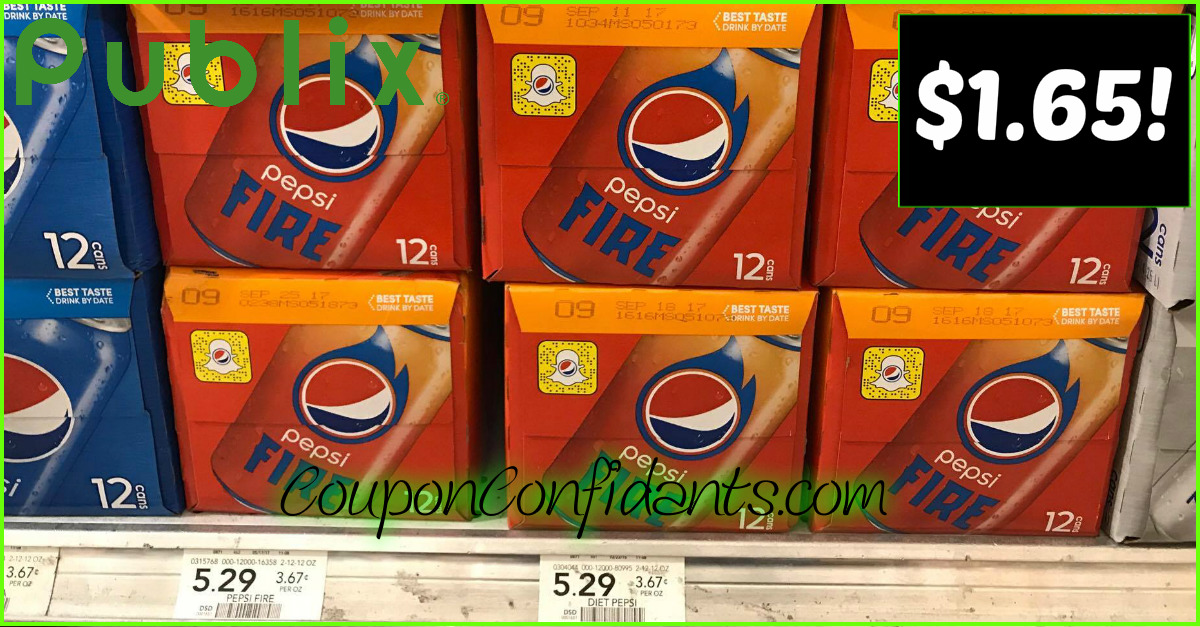 Pepsi Fire for a HOT Price - Publix Deal