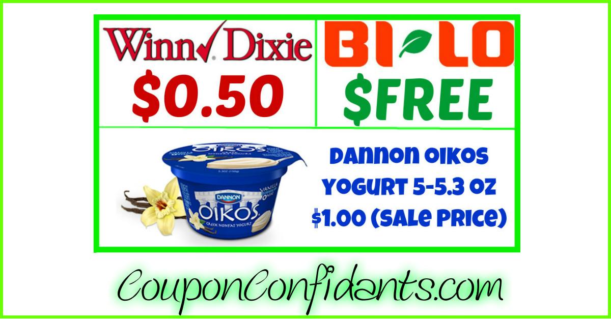 FREE or Cheap Oikos!! Winn Dixie & Bilo Deal!