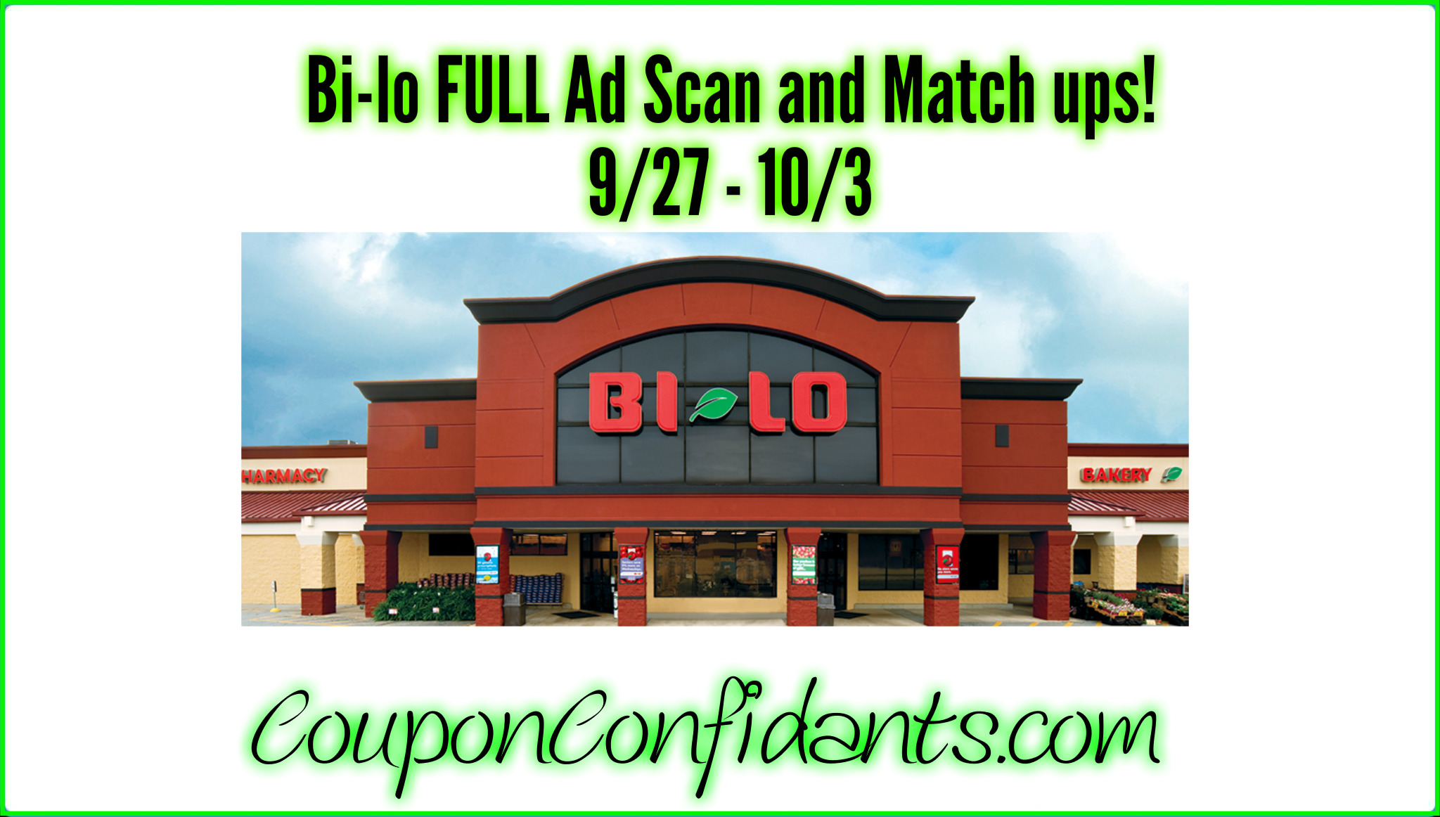 Bi-lo Ad Scan and Best deals are HERE! 9/27 - 10/3