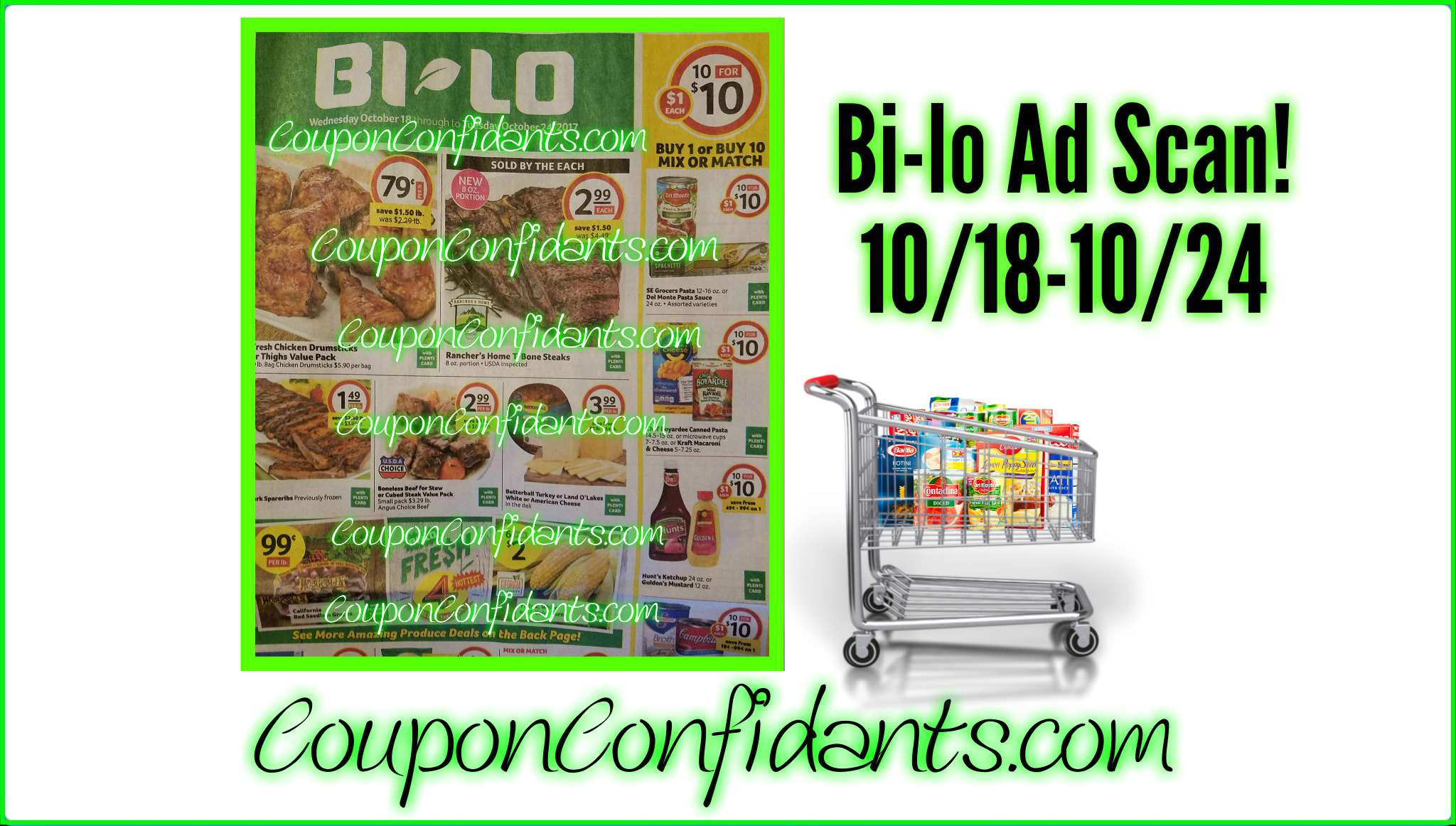 Bi-lo Ad Scan and Match ups!!
