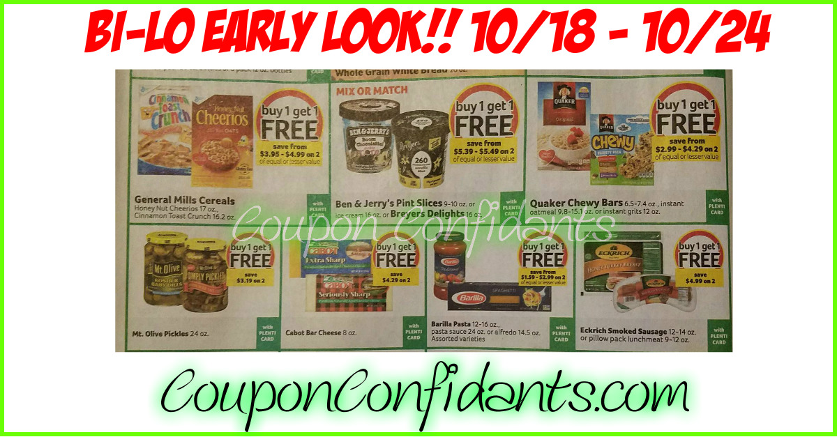 Bi-lo  Best Deals - Early Look!! 10/18 - 10/24