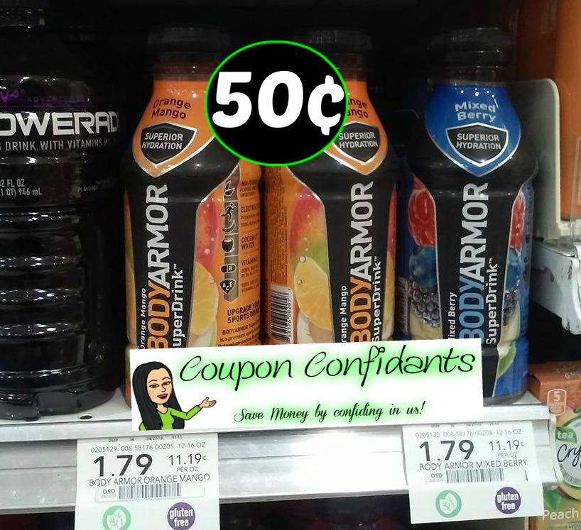 BodyArmor Super Drinks $0.50 - Publix Deal