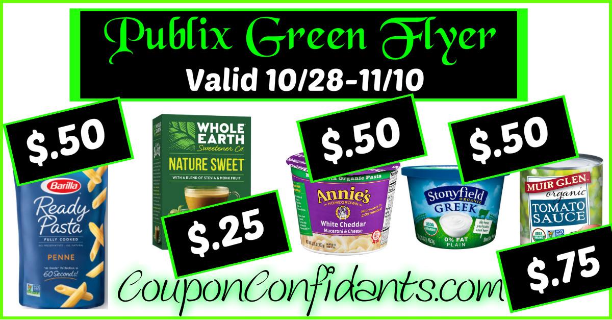 Publix - Green Flyer Deals Oct 28 - Nov 10