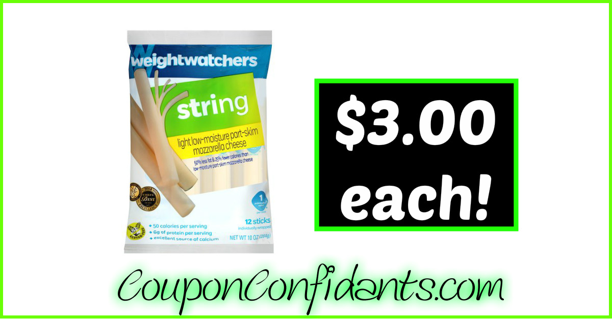 Weight Watchers String Cheese $3.00 at Publix!