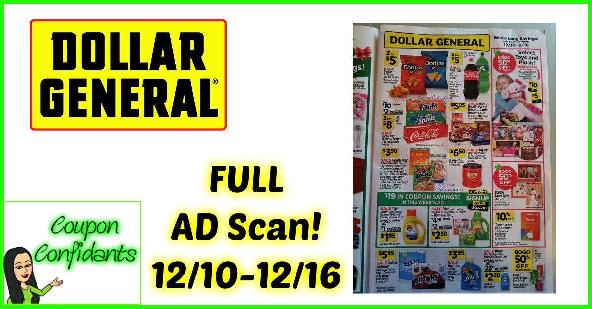Dollar General EARLY Look 12/10 - 12/16