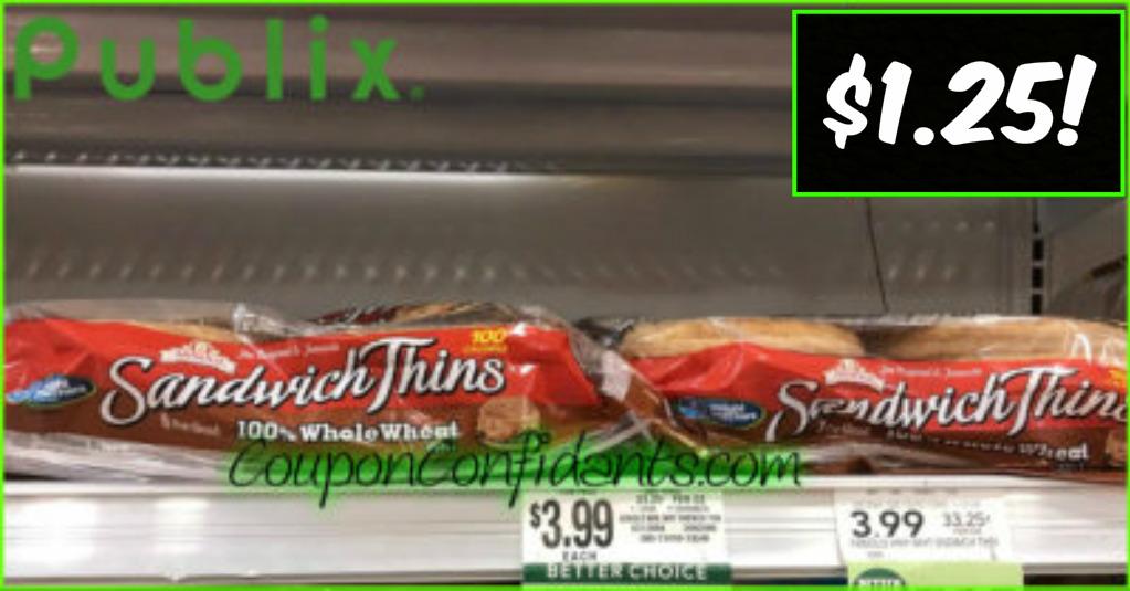 Arnold Sandwich Thins $1.25 each - Publix!