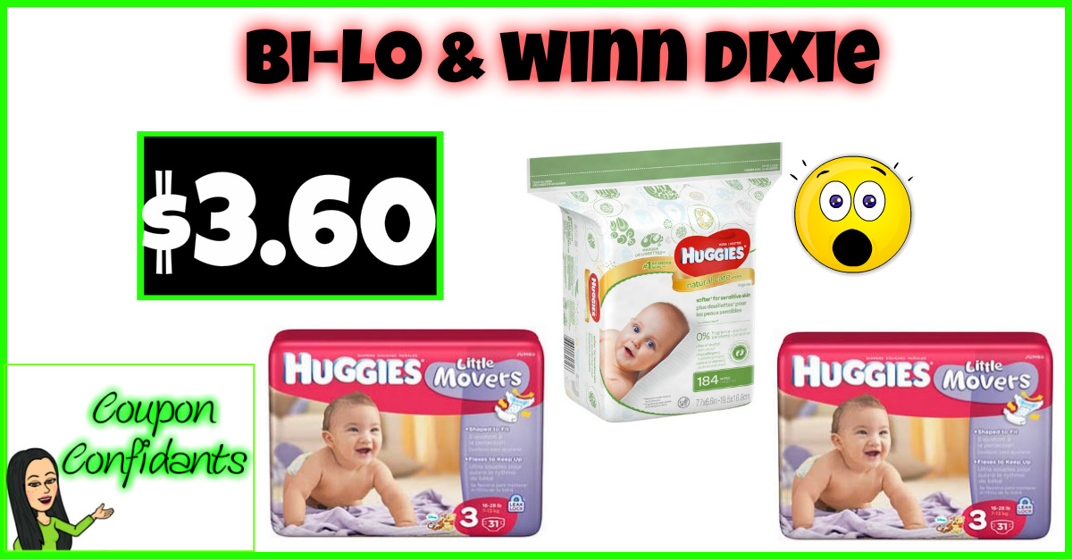 Huggies Diapers and Big Wipes $3.60 each!