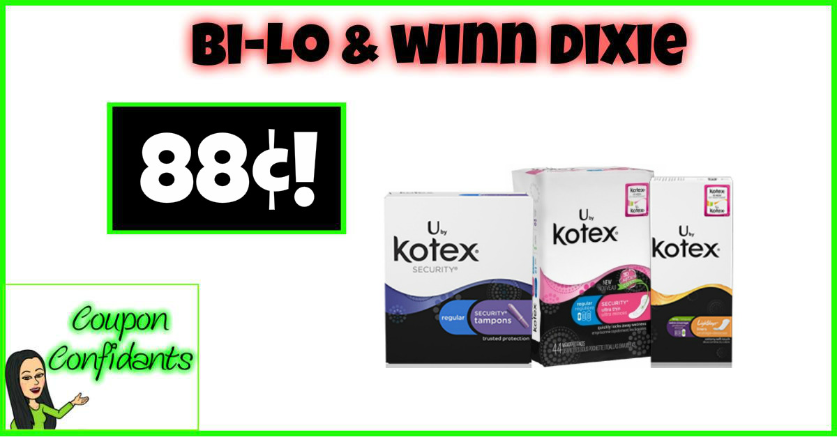 Kotex Security Items only 88¢