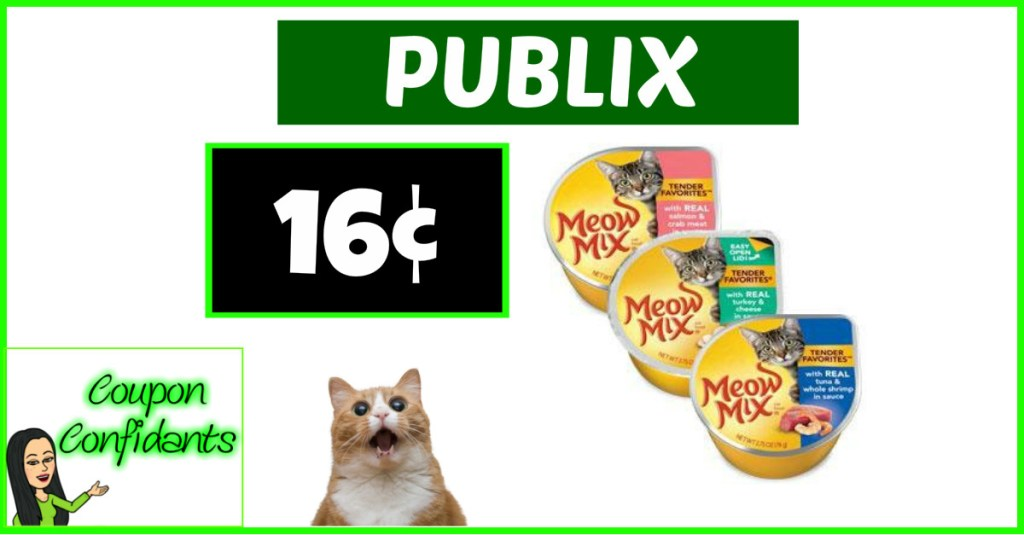 Meow Mix Cups only 16¢ at Publix!! WOW!
