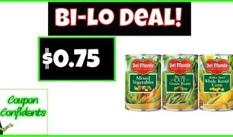Del Monte Veggies Only $0.75