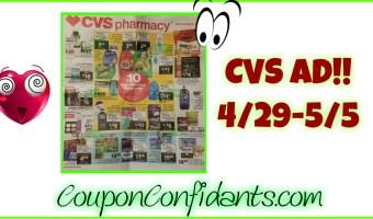 CVS Ad Scan 4/29 – 5/5!