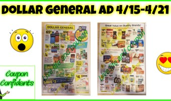 NEW Dollar General Ad 4/15 – 4/21!