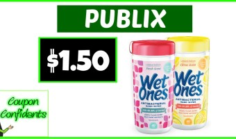 Wet Ones Canisters for $1.50 at Publix!