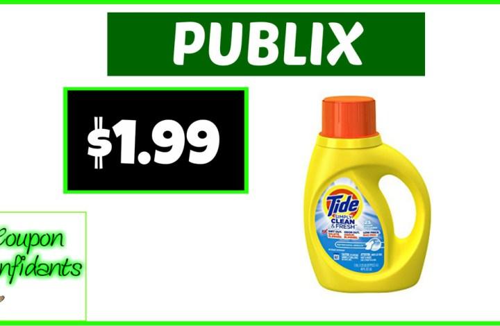 Tide Simply $1.99 at Publix NOW