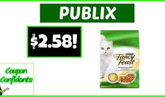 $2.58 Fancy Feast Dry Cat Food – Publix RARE Deal!
