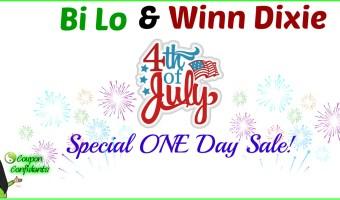 Special 4th of July one day sale! Bi-lo & Winn Dixie!