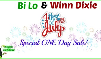 Special 4th of July one day sale! Bi-lo & Winn Dixie!