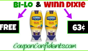 FREE Hellmann's for Bilo! (63¢ for Winn Dixie)