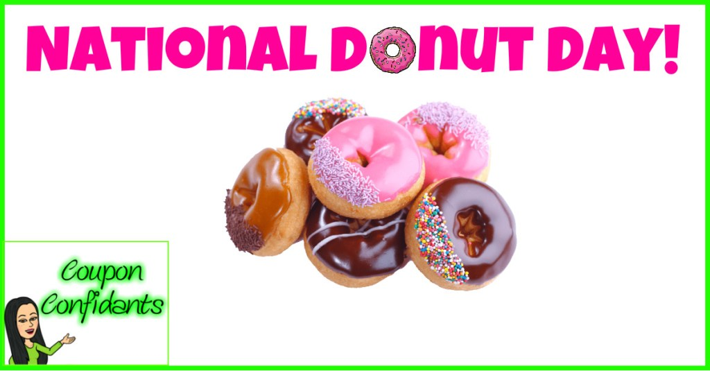 """National """"Donut"""" Day! FREE at participating stores!"""