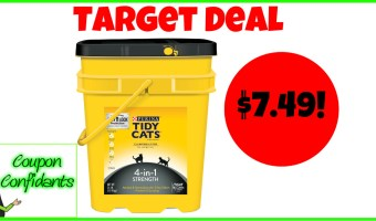 $7.49 for the HUGE Tidy Cats Jug at Target!