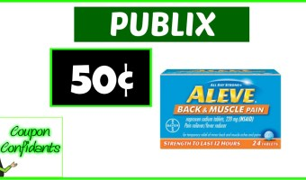 Aleve Back & Muscle 50¢ at Publix! WOW!