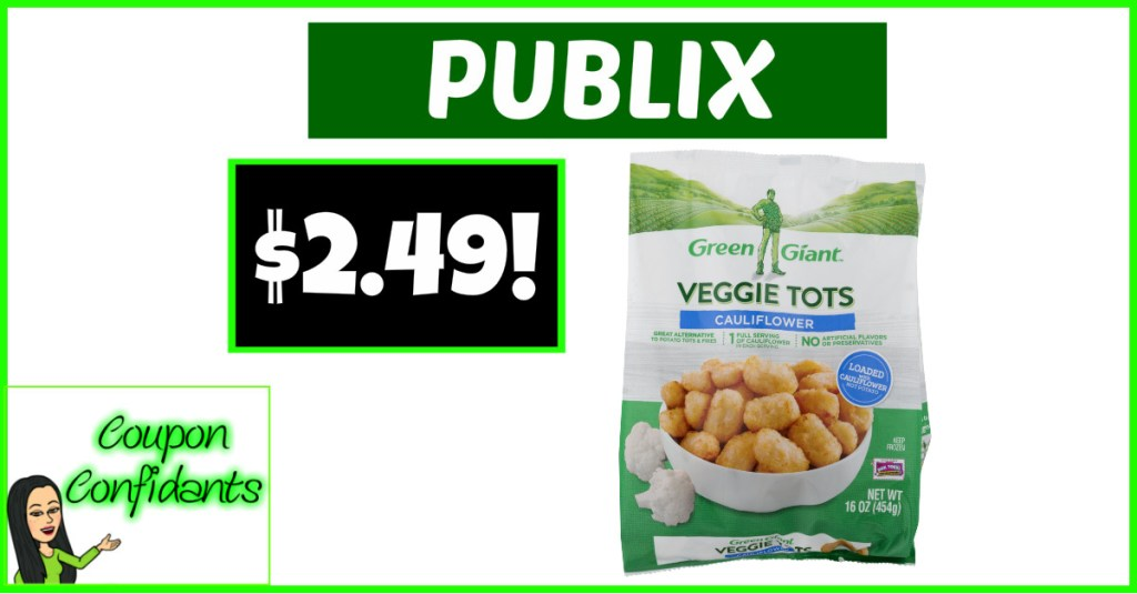 Green Giant Tots or Spirals $2.49 at Publix! YUM!