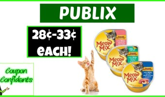 28¢ – 33¢ for Meow Mix Cups – Publix!