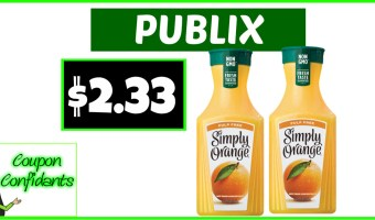 Simply Orange Juice Stacked Deal at Publix!
