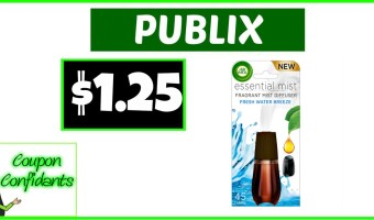 Air Wick Essentials Mist Refills at Publix for only $1.25!