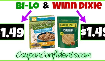 Stock up on Cereal at Winn Dixie and Bi-lo! YUM!