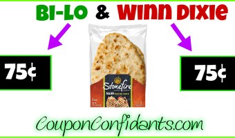 Naan Bread only 75¢ at Winn Dixie and Bi-lo!