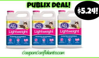 Cat's Pride Lightweight Litter only $5.24 at Publix!!