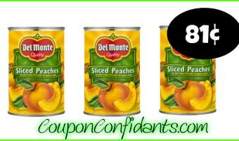 81¢ Del Monte Fruit at Publix!