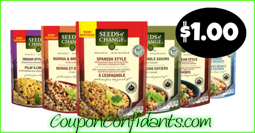 Seeds of Change $1.50 at Publix!
