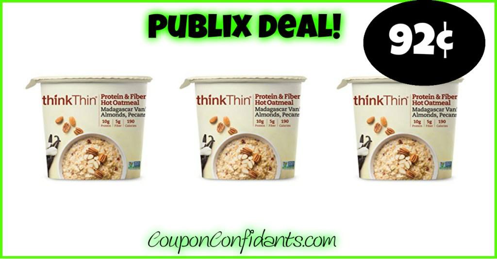 92¢ ThinkThin Oatmeal at Publix!